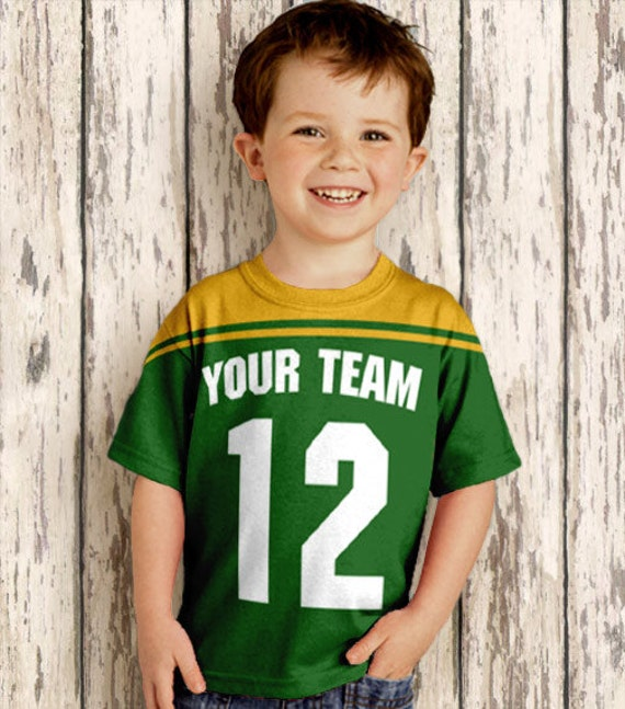 Football Jersey T-Shirt, Personalized / Any Color / Any Team, Sport Shirt