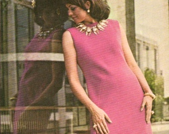 Vintage Pauline Trigère cocktail or evening dress pattern -- McCall's 1083