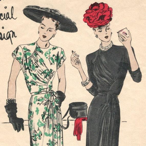 RESERVED 1940s cocktail dress pattern -- Vogue Special Design S-4641