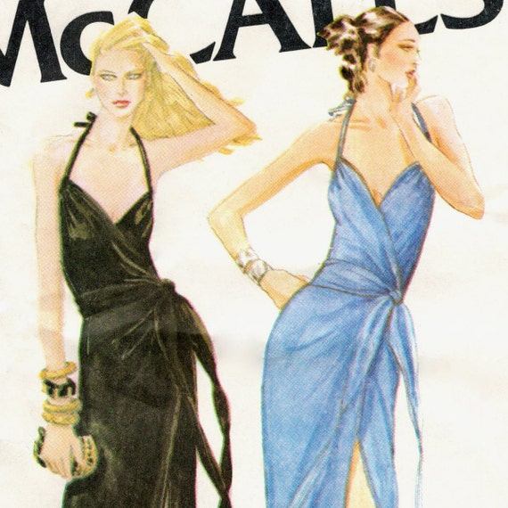 Bob Mackie halter wrap dress pattern -- McCall's 6575 (size Small)