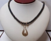 Freshwater Pearl Necklace w/ Black Hills Gold Accent