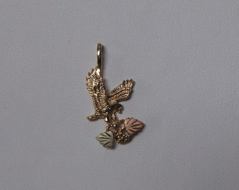 Whitaker's Black Hills Gold Jewelry Eagle Pendant