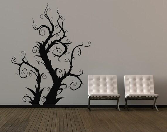 Burtonesque Tree Swirl Halloween Decorations Vine Branch