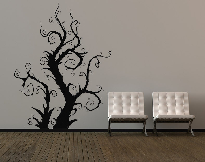 Awesome The Nightmare Before Christmas Wall Decals Burtonesque Tree