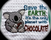 Save the Earth Cotton Dish Towel that would be a great Kitchen gift for someone special.