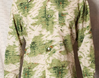 Vintage Classy Button Up Shirt - Nulook Fashions - L