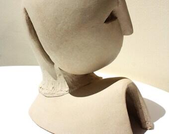 Ceramic sculpture, ceramic bust, bust sculpture, modern artwork by Elisaveta Sivas