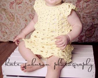 Fun Heather Dress Crochet Pattern Sizes 12 and 24 Months