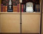 Iron Floor Lamp with Waxed Pillar Candle