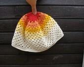 Crochet Spring Summer Hat Custom Colors Yellow Red Orange White