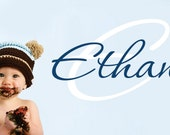 Boys Name Wall Decal  - Name Wall Decal - Baby Nursery Wall Decal - Kids Room Decals -