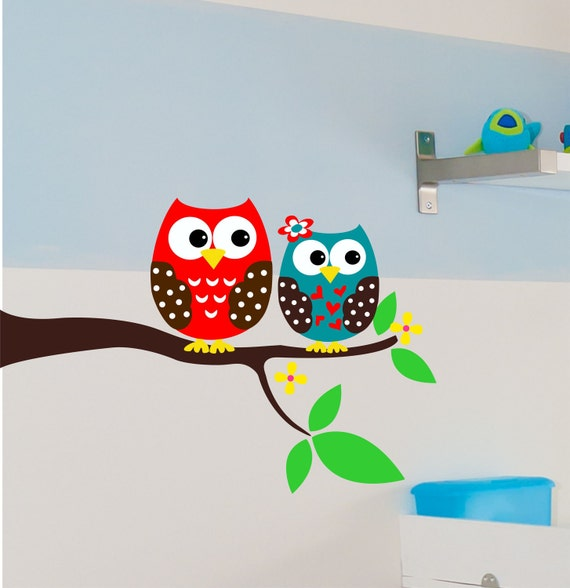 Owl  Wall Decal -  Children Wall Decals -Owl Wall Art - Nursery Art - Playroom Decor