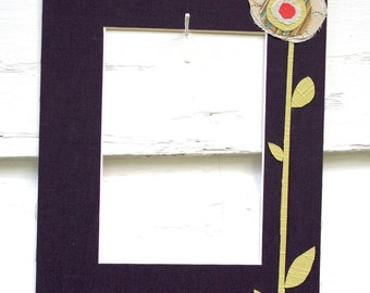 Funky Poppy Photo Mat 8x10 Purple Linen