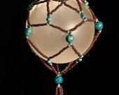 "New Mexico Diamonds hand beaded Christmas ornament wrap 2.5"" bulb"