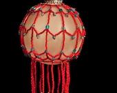 "Under the Big Top hand beaded Christmas ornament wrap 2.5"" bulb"