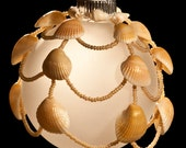 "Walking Barefoot in the Sand hand beaded Christmas ornament drape 2.5"" bulb"