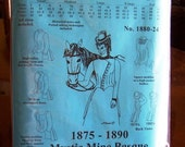 Victorian Sewing Pattern: Mystic Mine Basque Bodice for 1875 - 1890, Multi Sized, 1880-24