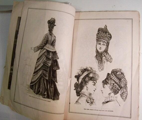 Petersons Ladies Magazine: Antique Fashion Magazine, April 1875 / Full Issue