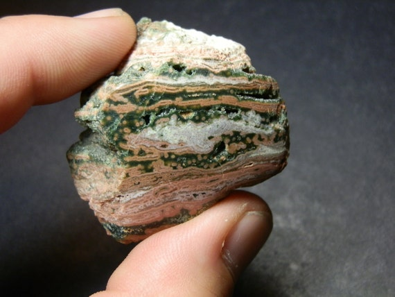 Ocean Jasper. Polished on one side free form display or lapidary rough. Free shipping.