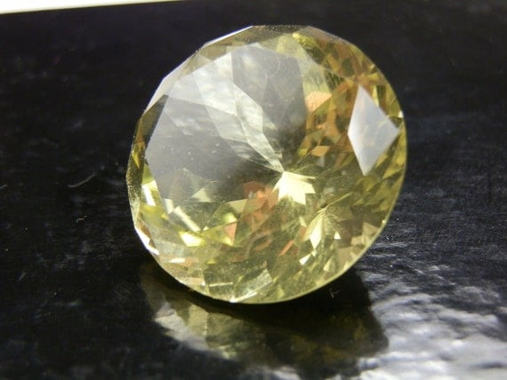 RESERVED 45 carat Citrine round Gemstone. All natural. Estate stock.