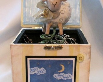 SALE ***** Jack in the Box - Little Lamb
