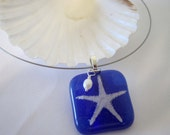 Fused Glass Necklace - Starfish