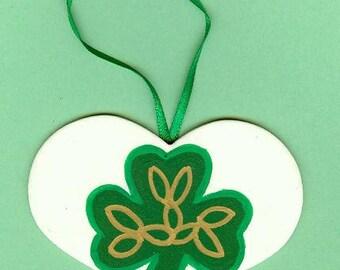 Shamrock Heart Ornament/Wall Hanging