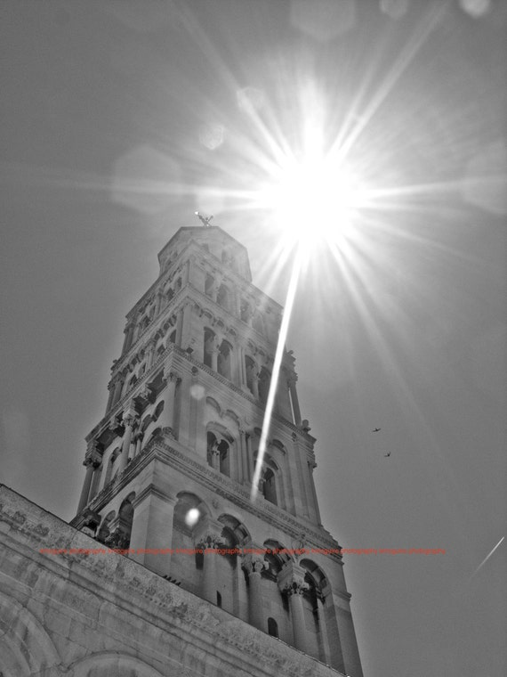 """Split, Croatia - """"Bell Tower at Sunset"""" - Fine Art, Travel Photography, Various sizes / matted available"""