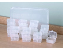 STORAGE BOX SYSTEM - 24 Individual Containers Fit Inside Large Box - Store Jump Rings Beads and Small Parts Craft Organizer