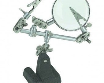 THIRD HAND with MAGNIFYING Glass - Great Tool for Soldering- Metal Working Jewelry Tool