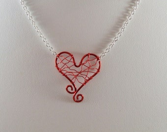 Red Love Wire Necklace