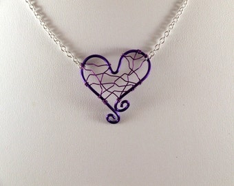 Love Wire Purple Necklace