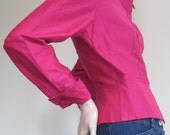 Talbots / Silk Blouse / 1980s Blouse / Brand New Shirt / Pink / Button Down Shirt / French Cuff Shirt / Preppy / Top / Classic