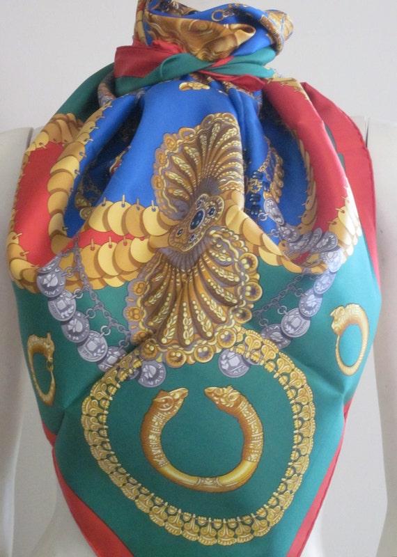 RESERVED FOR MARIA Hermes Scarf / Kosmima / Julia Abadie / Silk / Romantic Gifts / Valentines Gift / Jewels / High Fashion / Designer
