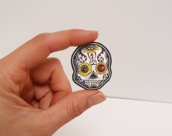 Sugar Skull Baby Window Sticker or IPhone case Vinyl Day of the Dead Decal add to family set