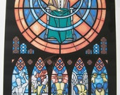 Full Size - Original X-men Stained Glass Illustration