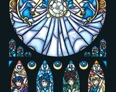 Full Size - Stained Glass Sailor Moon Print