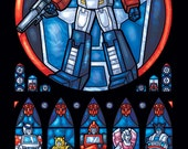 Half Size - Autobot Transformers Stained Glass Illustration