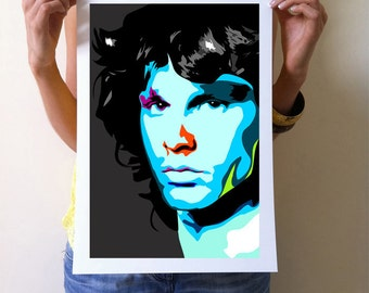 Jim Morrison Art Print - A3 Portrait