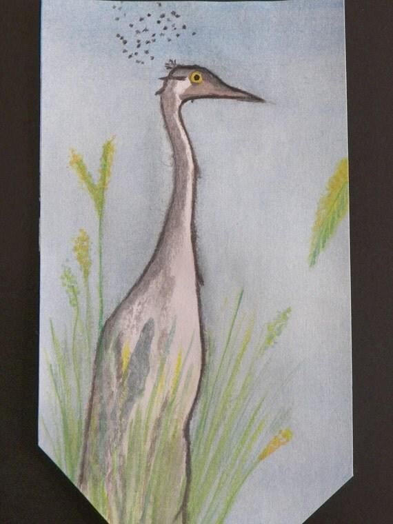 Weird Wildlife Series - Crane Caricature - Print