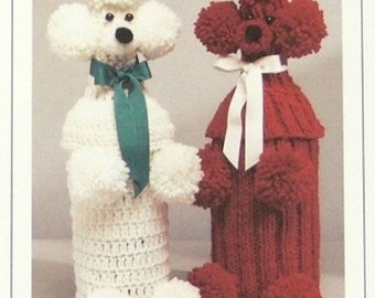 PDF Pattern - Poodle Bottle Covers to KNIT Or CROCHET - Pooch That Hides The Hooch - Perfect Holiday Christmas Gift - Instant Download