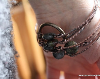 Simple Stone Bangle TUTORIAL No-Solder Bracelet Tutorial by Copper Tree Jewellery
