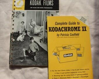 1960s set of Kodachrome and Kodak film 2 books
