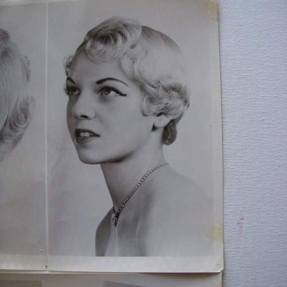 2 Vintage photographs glamour shot most likely 1950s