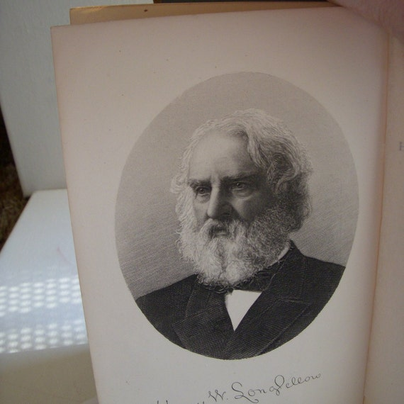 1887 Longfellow Poems Illustrated Household Edition Book