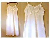 Vintage Slip 1950s Elegant Lace Bridal Lingerie Size 36