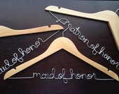 Bridesmaids Hangers, Personalized Hangers for the Wedding Party, Maid of Honor Hanger, Bridesmaids Gifts, MOH Gift