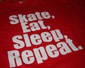 Longboard Skateboard Shirt Skate Eat Sleep Repeat Longboard Skateboard gift for men women teens boys and girls