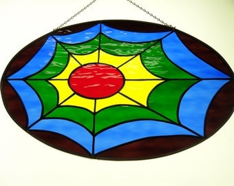 Spider Web Stained Glass