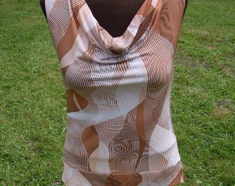 1970's - 1980's Style Graphic Patternerd Tank Top